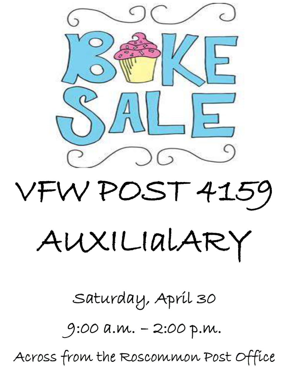 29 APR Bake Sale 30APR